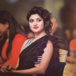 Oviya helen, Photo Shoot, black saree