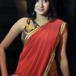 Oviya helen, red saree spicy