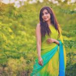 Parvatii Nair, natural, saree, green saree, tv show