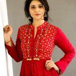 Priyanka Jawalkar, red dress, taxiwala, telugu, actress