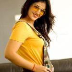 Priyanka Jawalkar, smile, hd, yellow dress