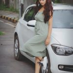 RX 100, Payal Rajput, large size, car, rae