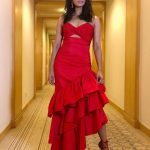Radhika Apte, Ula Heroine, red dress, event
