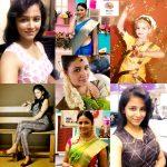 Subiksha, colllage, saree, tamil actress