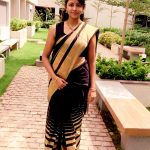 Subiksha, festival mode, saree, traditional, Vettai Naai