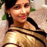 Subiksha, tamil actress, selfie, saree, traditional