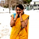 Subiksha, yeloow dress, glamour, shooting spot