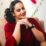Suja Varunee, Sujatha Naidu, red dress