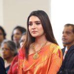 Vani Bhojan, red saree, function