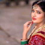 Vani Bhojan, red saree, red lipsstick