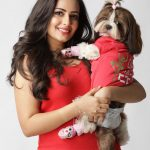 Aanchal Munjal, dog, red dress
