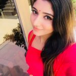 Adhiti menon, red chudi, selfie