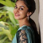 Aishwarya Arjun, smile, saree, hd, kannada