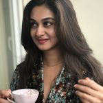 Aishwarya Arjun, tea, cup, actress, sarja daughter