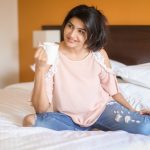 Anjena Kirti, 2018 Photo shoot, bed, shirt