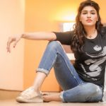 Anjena Kirti, 2018 Photo shoot, black t shirt, blue jean