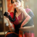 Anjena Kirti, 2018 Photo shoot, pattu saree, kanchee pattu