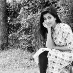 Anju Kurian, Jeem Boom Ba Actress, black and white, admirable