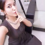 Anju Kurian, black dress, top view