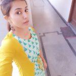 Anju Kurian, yellow chudi, charming