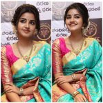 Anupama Parameswaran, collage, cute, saree