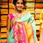 Anupama Parameswaran, cute, inauguration, saree, tamil actress