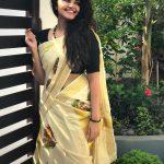 Anupama Parameswaran, kerala saree, saree, malayalam, hd