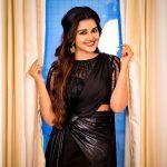 Anupama Parameswaran, saree, black saree, hd