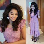 Anupama Parameswaran, shy, pink, actress