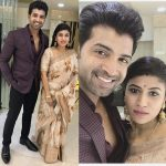 Arun Vijay, family, collage, wife, aarthi mohan, saree