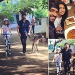 Arun Vijay, family, pet animal, daughter, cute