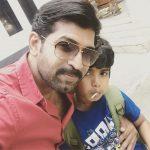 Arun Vijay, family, son, Arnav, selfie