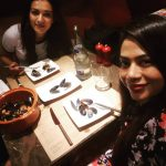 Catherine Tresa, friends, dinner, night