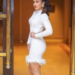 Catherine Tresa, full size, white dress, photo shoot, actress, Neeya 2
