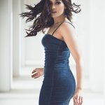 Catherine Tresa, wallpaper, blue dress, hd, tamil actress