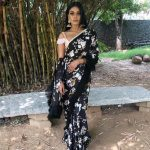 Chandrika Ravi, black saree, pretty