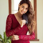 Disha Patani, Bharat Heroine, red dress, brownie hair