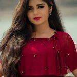 Gouri G Kishan, Anugraheethan Antony Actress, sightly Look, red dress