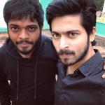 Harish Kalyan, selfie, black dress, friends