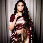 Keerthy Suresh, hd, saree, cute, actress