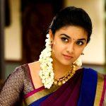 Keerthy Suresh, hd, saree, cute, wallpaper, bairavaa