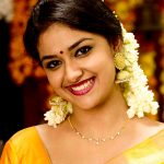 Keerthy Suresh, hd, saree, smile, traditional dress