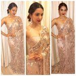 Kiara Advani, saree, glamour, collage, glamorous