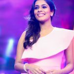 Kiki Vijay, pink dress, television show, anchor