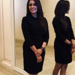 Kiki Vijay, unseen, rare, black dress