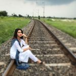 Lavanya Tripathi, railway track, hd, creative, innovative