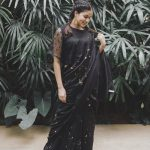 Lavanya Tripathi, shy, black dress, saree