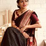 Maalavika Sundar, photo shoot, black saree