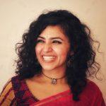 Maalavika Sundar,  red saree