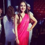 Madhu Shalini, pink saree, customary